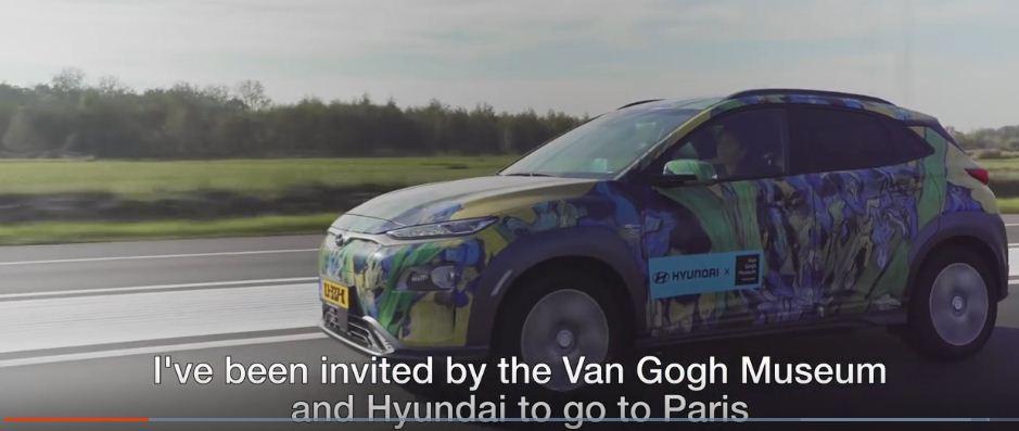 Los eléctricos de Hyundai se pintan con los cuadros de Van Gogh